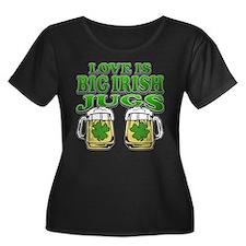 Love is Big Irish Jugs T