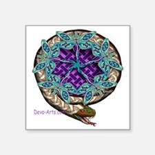 "Snake-Dragonflies Square Sticker 3"" x 3"""