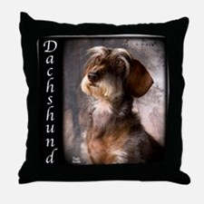Dachshunds Wirehaired Throw Pillow