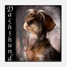 Dachshunds Wirehaired Tile Coaster