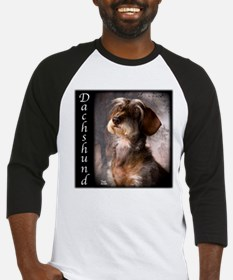 Dachshunds Wirehaired Baseball Jersey