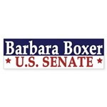 Barbara Boxer for Senate (bumper sticker)
