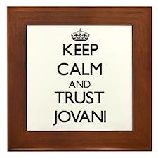 Keep Calm and TRUST Jovani Framed Tile