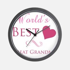 Worlds Best Great Grandma Wall Clock