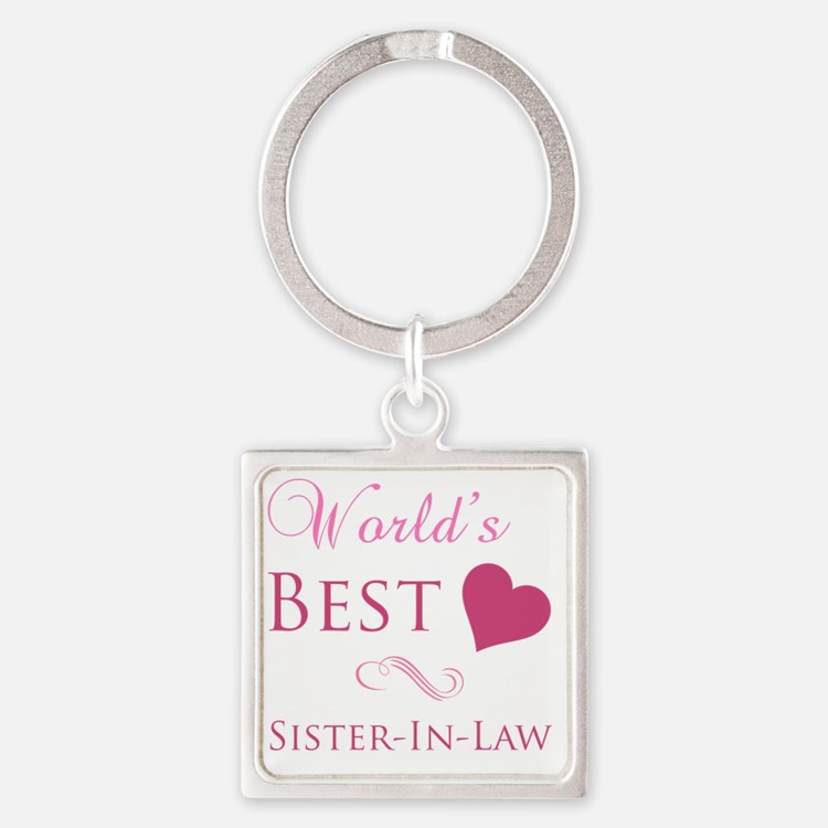 Worlds Best Sister-In-Law Square Keychain