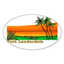 Fort Lauderdale, Florida Oval Decal