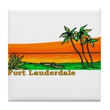Fort Lauderdale, Florida Tile Coaster