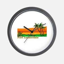 Fort Lauderdale, Florida Wall Clock