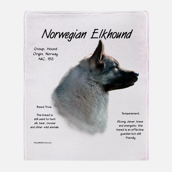 Norwegian Elkhound Throw Blanket