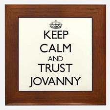 Keep Calm and TRUST Jovanny Framed Tile