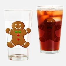 Gingerbread Man Drinking Glass