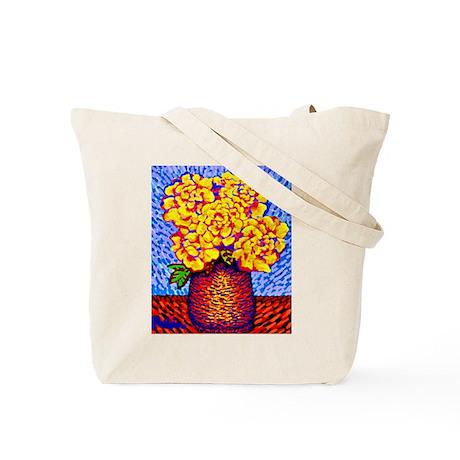 Tote Bag<BR>ROSE & YELLOW ROSES