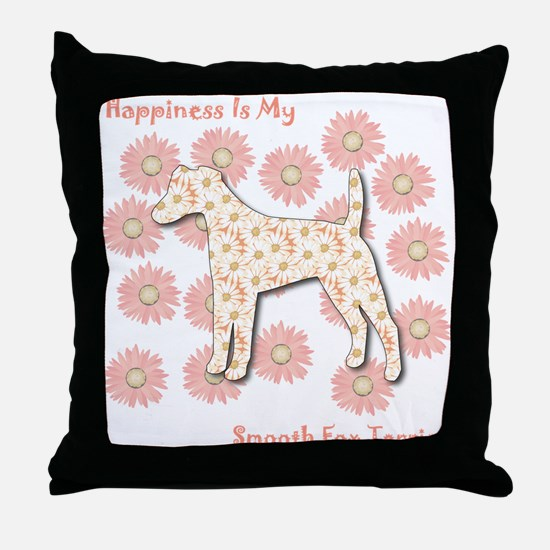 Foxie Happiness Throw Pillow