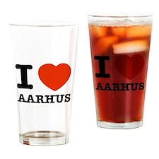 I LOVE AARHUS Drinking Glass