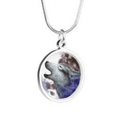 iPad 3 Folio_Moon Wolf Silver Round Necklace