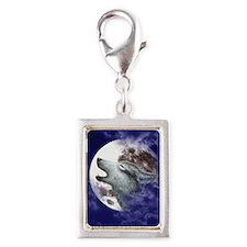 iPad 3 Folio_Moon Wolf Silver Portrait Charm