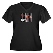 Jail Bait Women's Plus Size V-Neck Dark T-Shirt