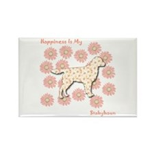 Stabyhoun Happiness Rectangle Magnet
