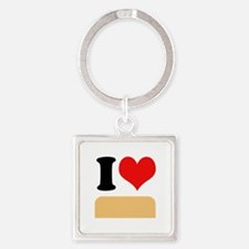 I heart twinkies Square Keychain