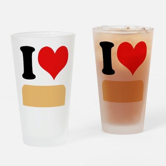 I heart twinkies Drinking Glass