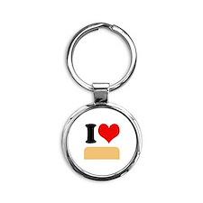 I heart twinkies Round Keychain