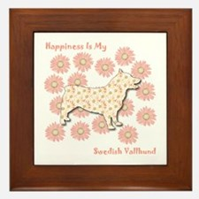Vallhund Happiness Framed Tile