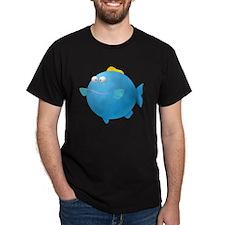 Blue Puffer Fish Kids Shirt T-Shirt