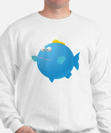 Blue Puffer Fish Kids Shirt Sweatshirt