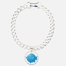 Blue Puffer Fish Kids Sh Charm Bracelet, One Charm