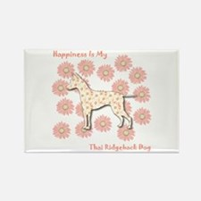 Ridgeback Happiness Rectangle Magnet