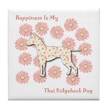 Ridgeback Happiness Tile Coaster
