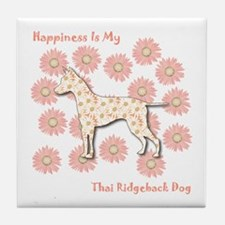 Ridgeback Happiness Tile Coaster