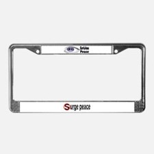 Envision Peace License Plate Frame