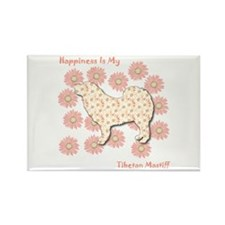 Mastiff Happiness Rectangle Magnet (100 pack)