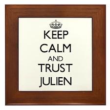 Keep Calm and TRUST Julien Framed Tile