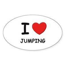 I love jumping Oval Decal