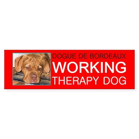 Dogue De Bordeaux-Working Dog, Bumper Sticker