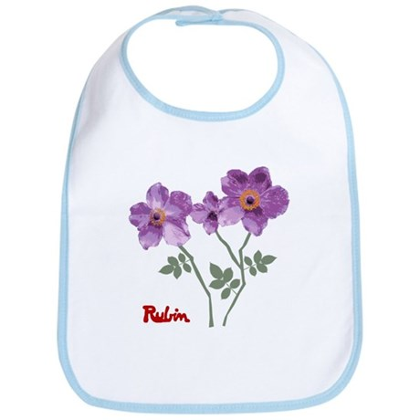 Bib<BR>3 Purple Roses