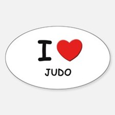 I love judo Oval Decal