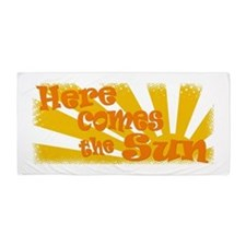 here comes the sun.png Beach Towel