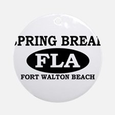 Spring Break Fort Walton Beac Ornament (Round)