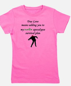 True Love Zombie Girl's Tee