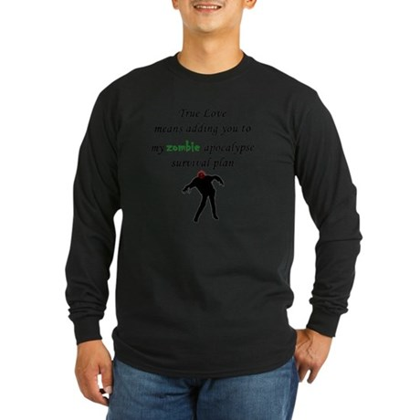 True Love Zombie Long Sleeve Dark T-Shirt