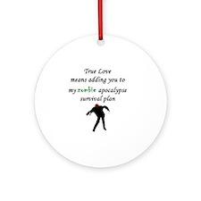 True Love Zombie Round Ornament