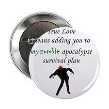 """True Love Zombie 2.25"""" Button"""