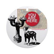 You Are Here, Portland - Benson Bub Round Ornament