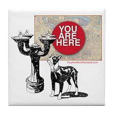 You Are Here, Portland - Benson Bubbl Tile Coaster