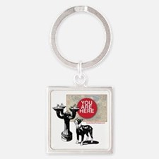 You Are Here, Portland - Benson Bu Square Keychain