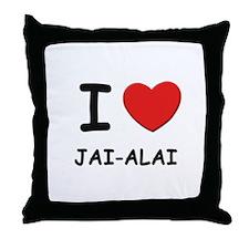 I love jai-alai  Throw Pillow