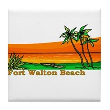 Fort Walton Beach, Florida Tile Coaster